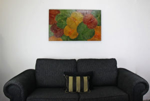 100 x 60 Lotus Leaf Art Autumn Leaves