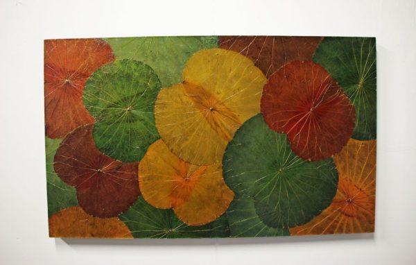 100 x 60 Lotus Leaf Art Autumn Leaves