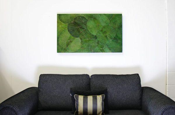 100 x 60 Lotus Leaf Art Green Forest