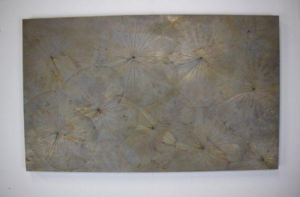 100 x 60 Lotus Leaf Art Mink Silver