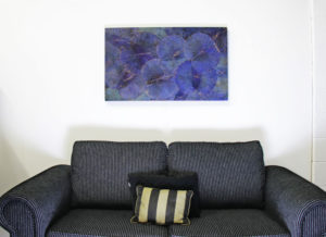 100 x 60 Lotus Leaf Art Moody Blue