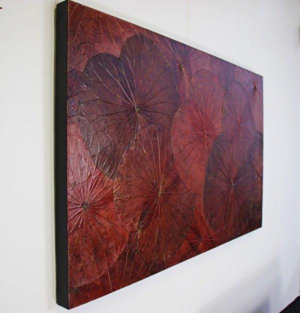 100 x 60 Lotus Leaf Art Rustic Red