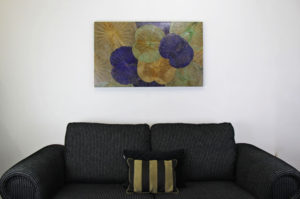 100 x 60 Lotus Leaf Art Summer Bloom