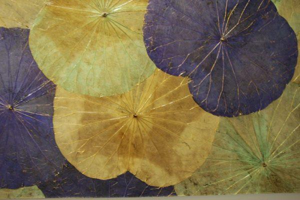 100 x 60 Lotus Leaf Art Summer Bloom
