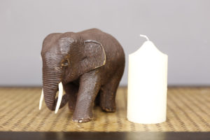10cm Teak Wooden Elephant
