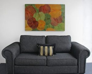 120 x 80 Lotus Leaf Art Autumn Leaves