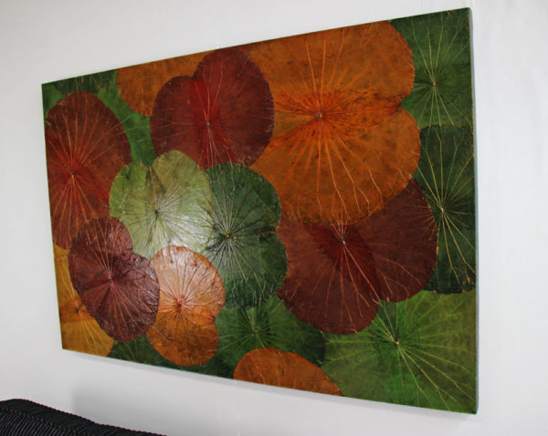 120 x 80 Lotus Leaf Art Autumn Leaves