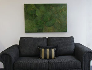 120 x 80 Lotus Leaf Art Green Forest