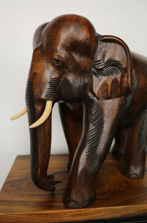 """14"""" Wooden Elephant"""