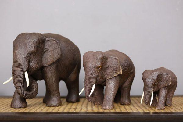 15cm Teak Elephant
