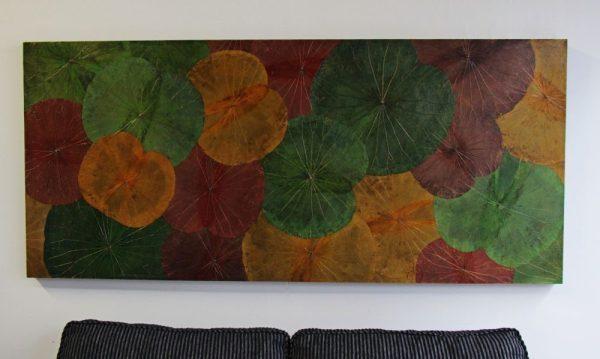 180 x 80 Lotus Leaf Art Autumn Leaves