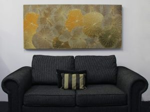 180 x 80 Lotus Leaf Art Golden Glow
