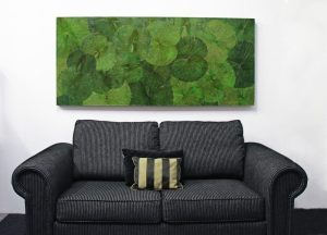 180 x 80 Lotus Leaf Art Green Forest