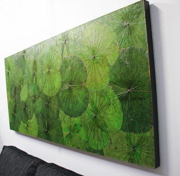 180 x 80 Lotus Leaf Art Green Forest