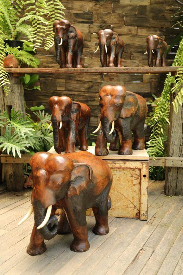 """20"""" Xtra Large Wooden Elephant"""