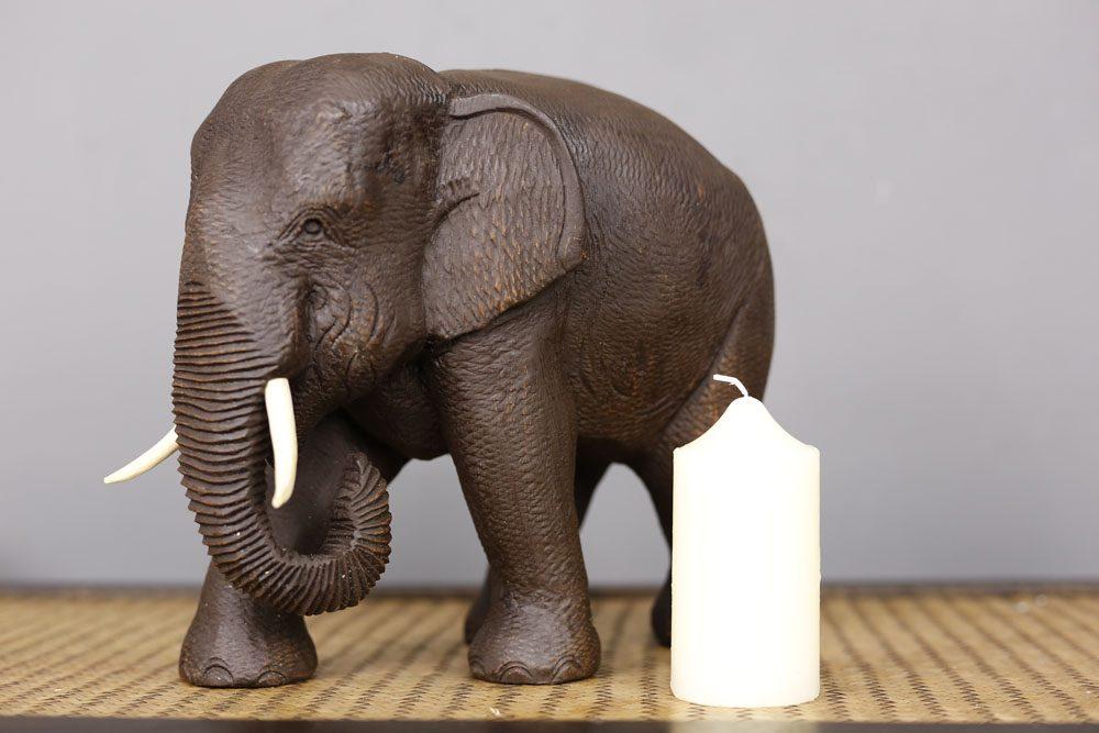 20cm Teak Elephant
