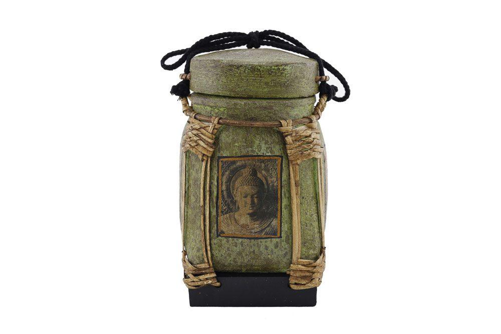 22cm Rice Basket Olive Green