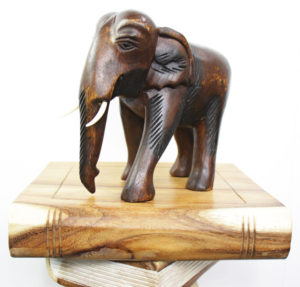 22cm Wooden Elephant