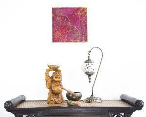 30 x 30 Lotus Leaf Art Purple Hue