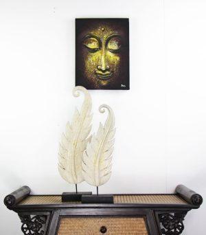 30 x 40 cm Buddha Face On Frame