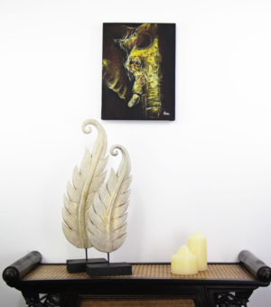 30 x 40 cm Elephant Profile On Frame