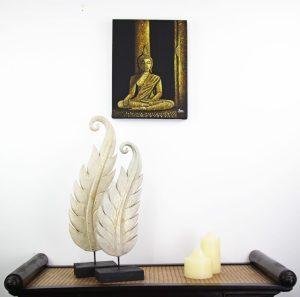 30 x 40 cm Meditation Buddha On Frame