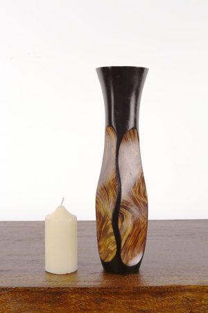 30cm Mangowood Vase Swirl