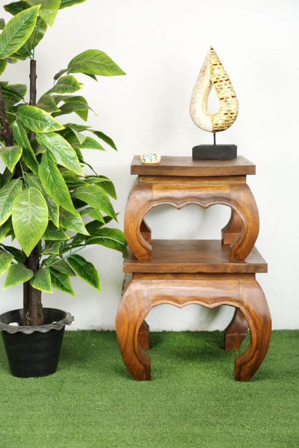 34cm Wooden Opium Table