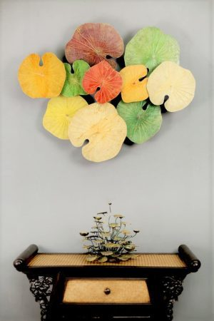 Lotus Leaf Wall Art 3D