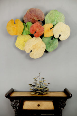 3D 10 Lotus Leaf Art Autumn Splendour