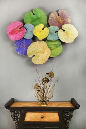 3D 10 Lotus Leaf Art Spring Blossom