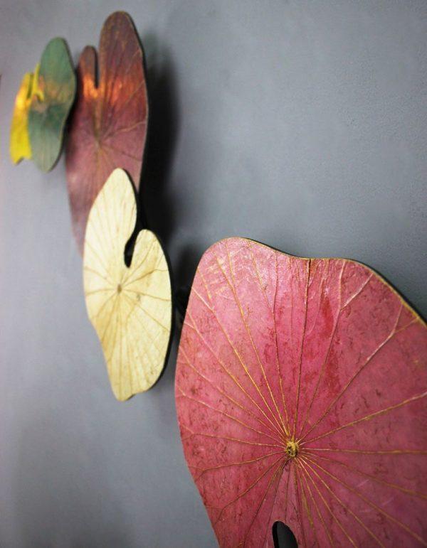 3D 5 Lotus Leaf Art Spring Blossom