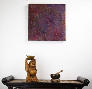 48 x 48 Lotus Leaf Art Purple Hue
