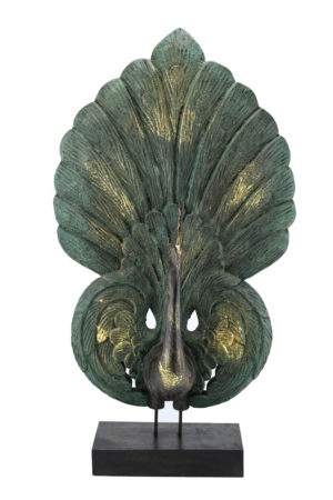 70cm Large Peacock Antique Green