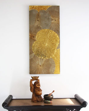 90 x 40 Lotus Leaf Art Golden Glow