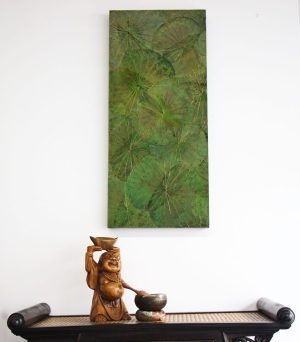 90 X 40 LOTUS LEAF WALL ART