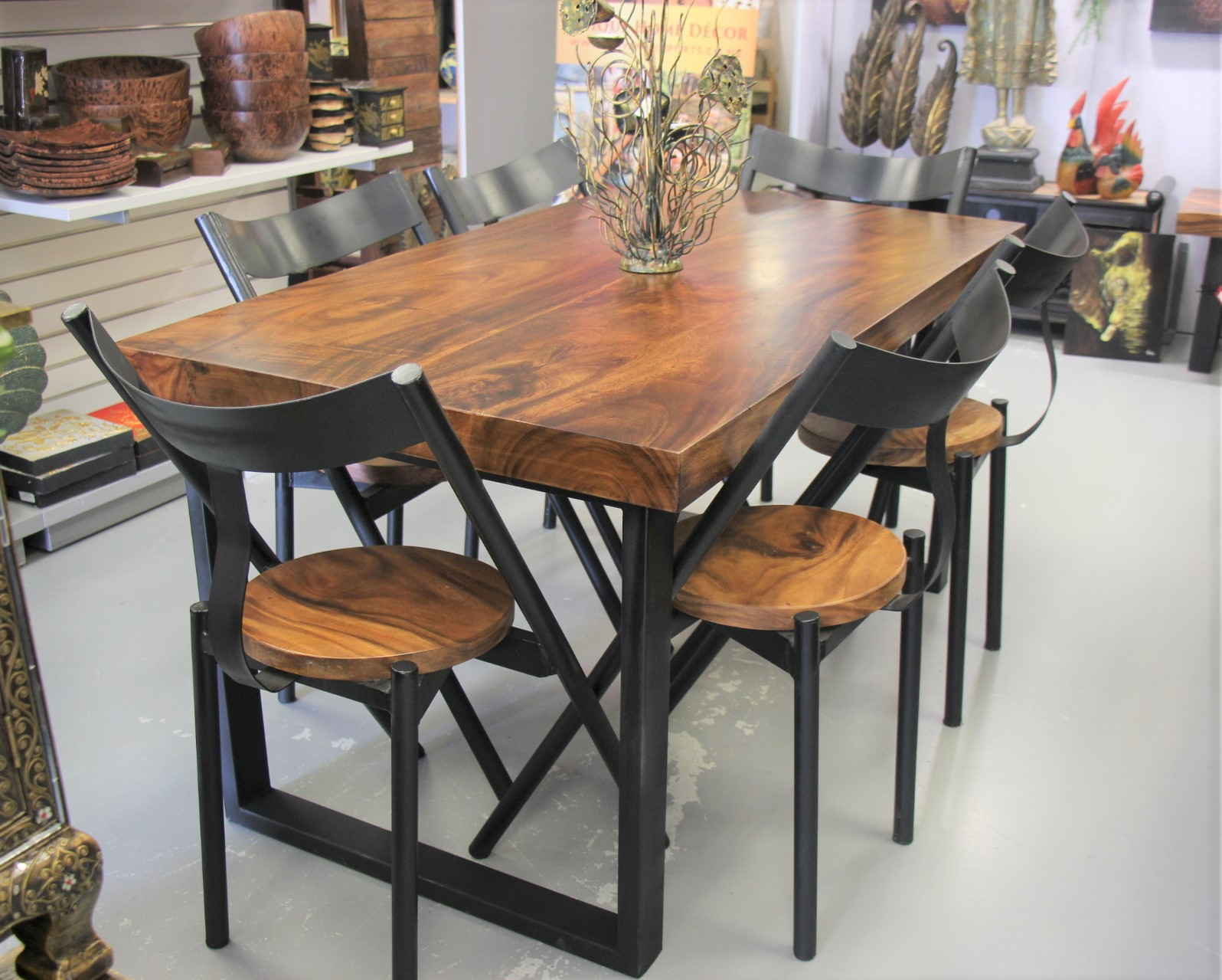 Picture of: Acacia Wood Dining Room Table And 6 Chairs Nirvana