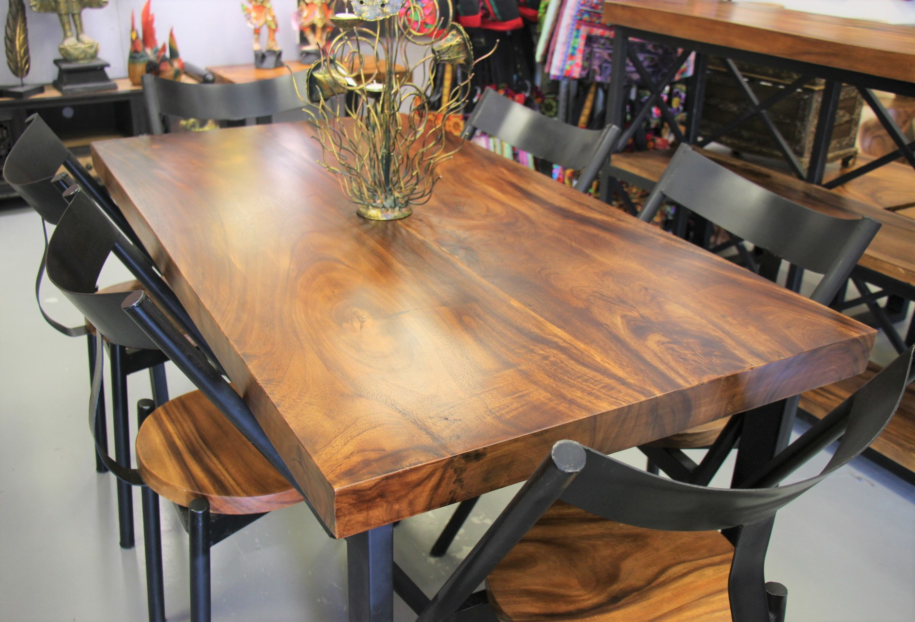 Acacia Wood Dining Room Table And 6 Chairs Nirvana
