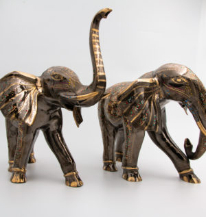 Stunning Hand Crafted Ornate Brass Animals