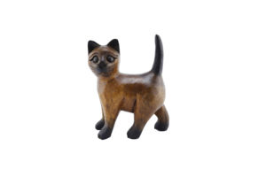 Carved Wooden 15cm Strutting Cat