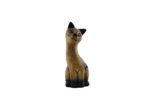 Carved Wooden 18cm Cat