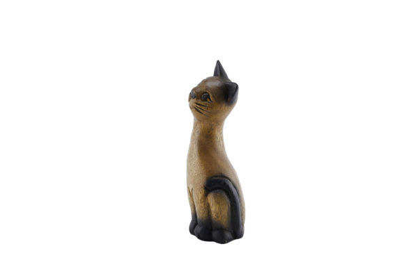 Carved Wooden 18cm Cat