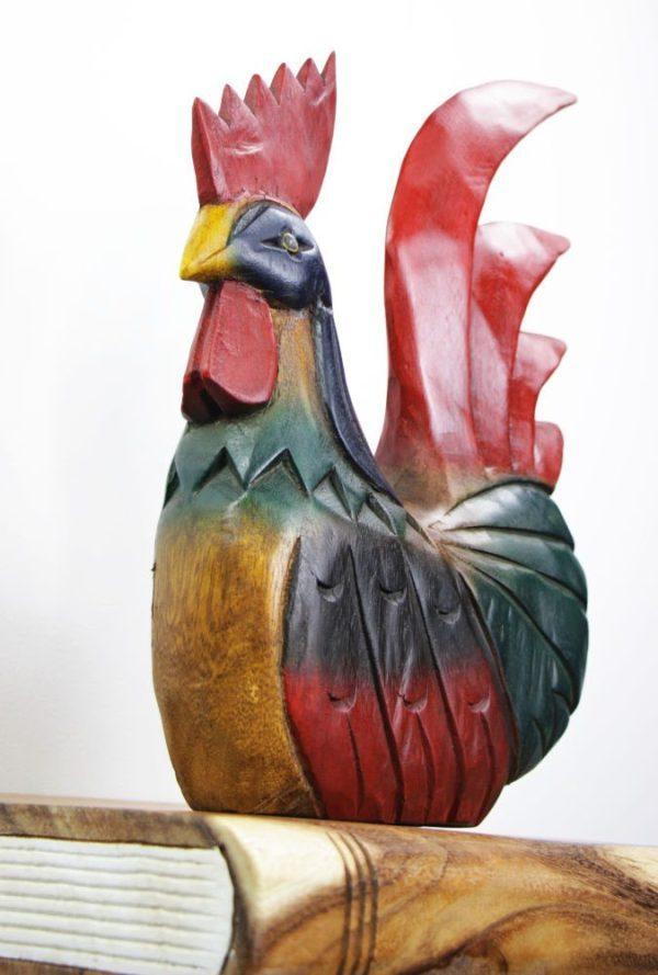 Carved Wooden Large Chicken