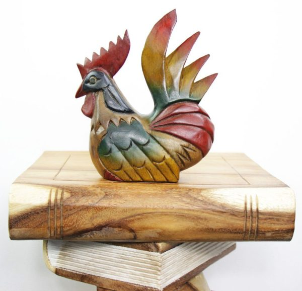 Carved Wooden Small Chicken