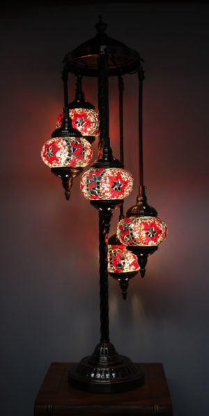 Floor Lamp 5 Hanging Globes