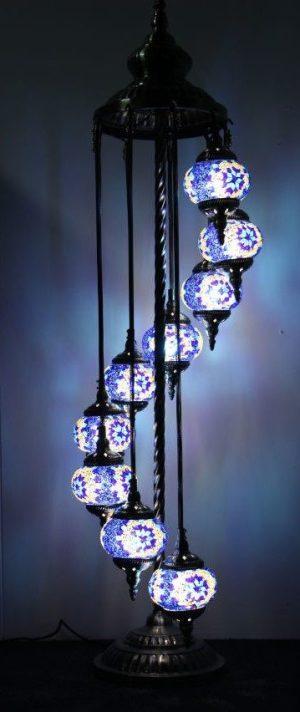 Floor Lamp 9 Hanging Globes