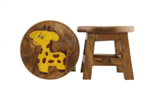 Kids Wooden Stool Giraffe