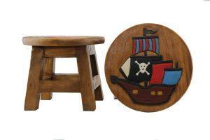 Kids Wooden Stool Pirate Ship