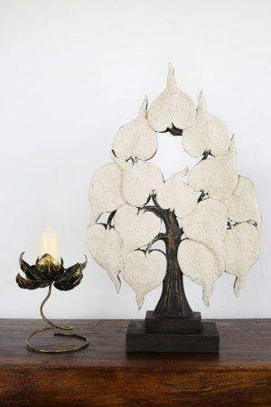 Large 62cm Bodhi Tree Antique White