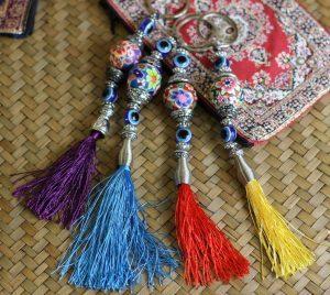 Turkish Lucky Eye Key Rings/Bag Tags